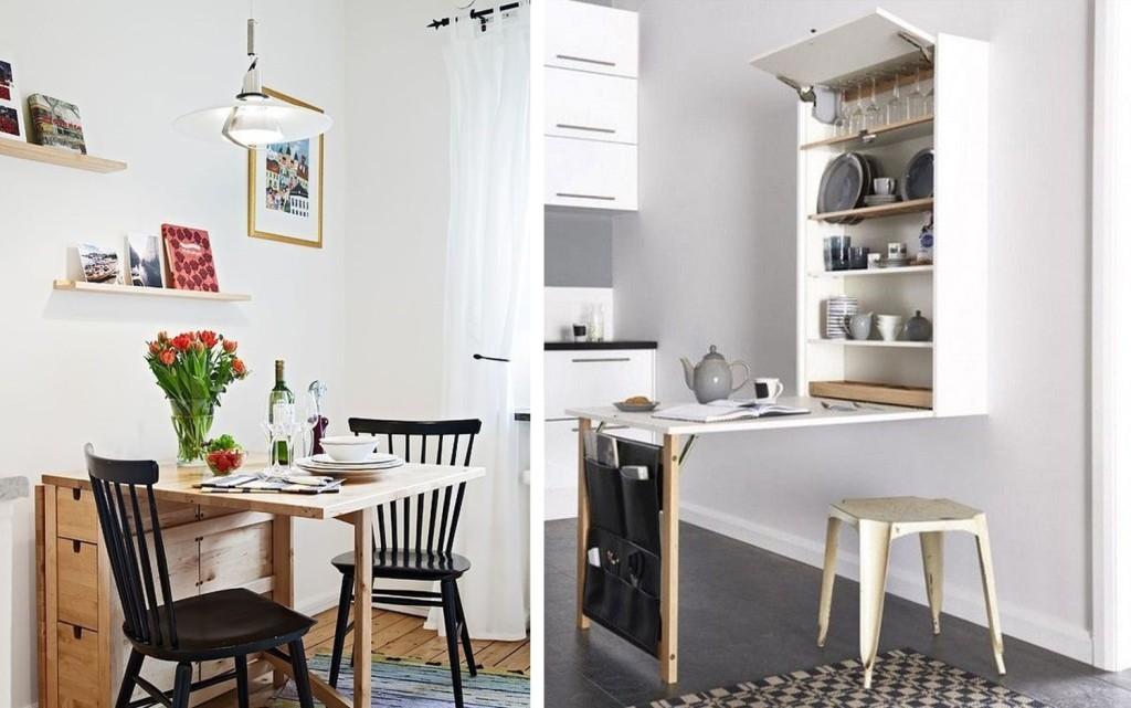 Pienet tilat edellyttävät joskus monikäyttöisiä huonekaluja.