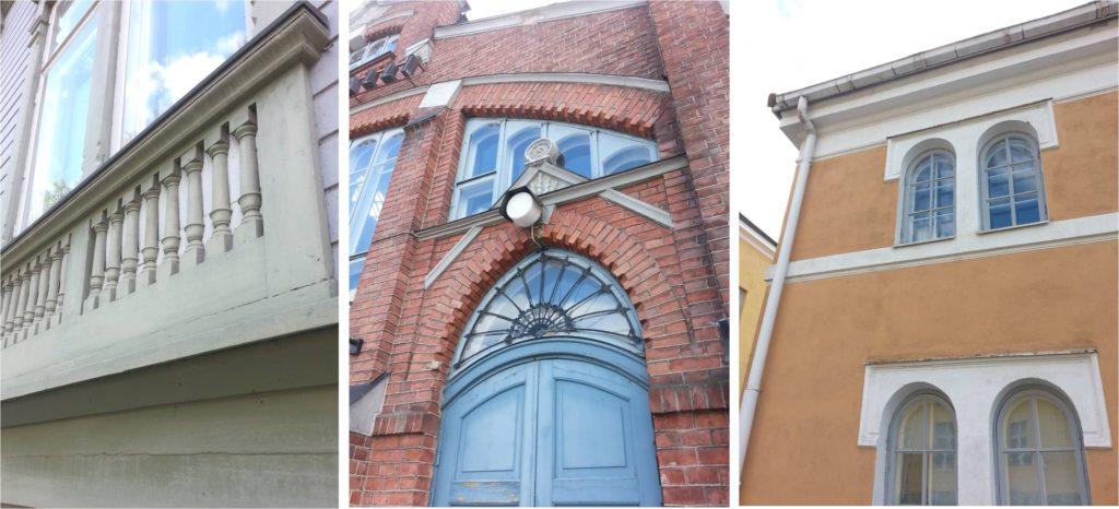 Inspiraatiota Oulusta: yksityiskohdat tuovat rakennuksiin luonnetta.