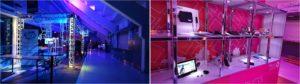 Vectorama -tapahtuman showroom ja teknologia-seinä.