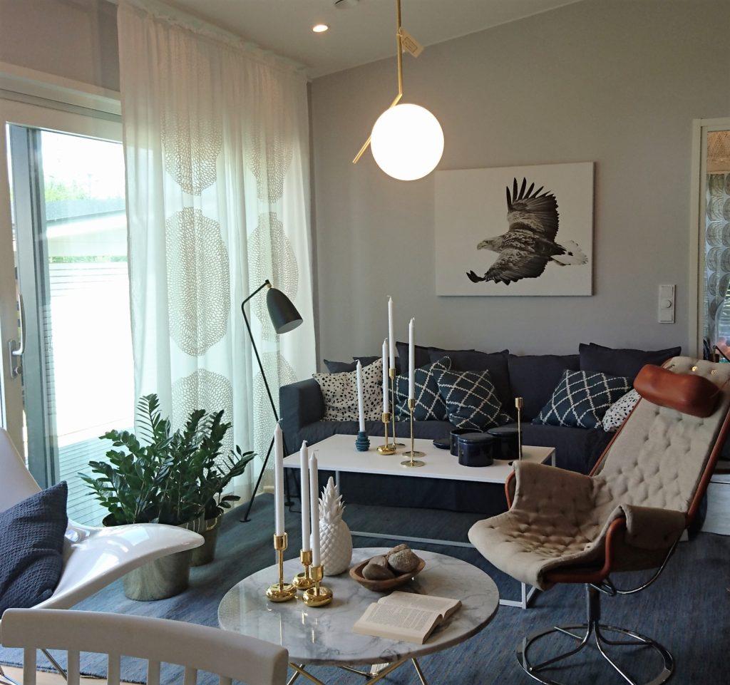 Asuntomessut 2016: Modernit kalusteet ovat tyylikäs ja tasapainottava pari vanhanaikaisille esineille