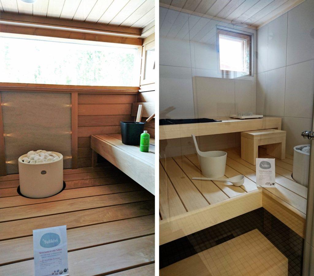 Sisustusinspiraatiota asuntomessuilta: Saunat ovat tällä hetkellä selkeälinjaisia ja ilmavia
