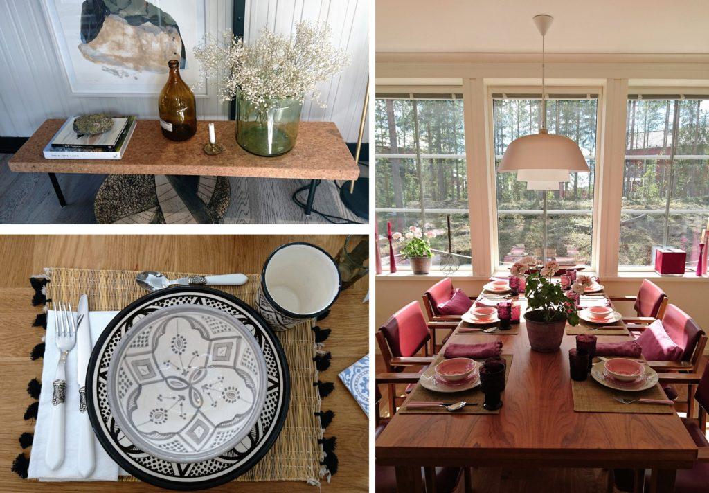 Sisustusinspiraatiota asuntomessuilta: Astiatkaan eivät ole enää pelkistetyn valkoisia vaan niissä yhdistellään eri tyylejä ja värejä rohkeasti keskenään