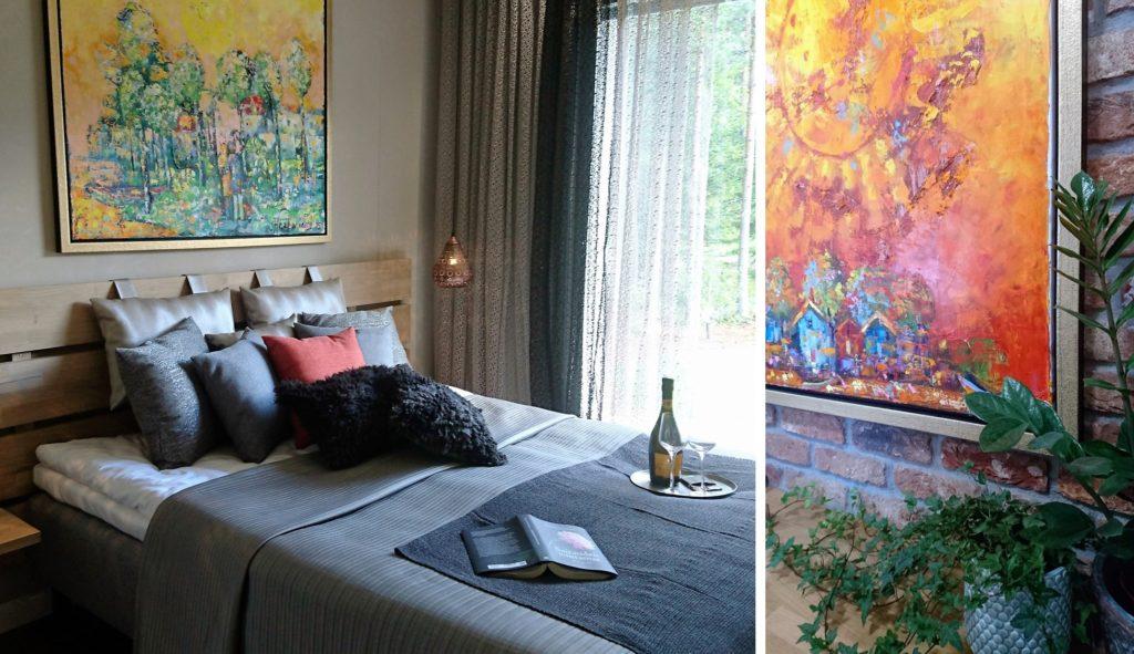 Sisustusinspiraatiota asuntomessuilta: Taidetta hyödynnetään enstistä enemmän tuomaan väriä ja tyyliä sisustukseen