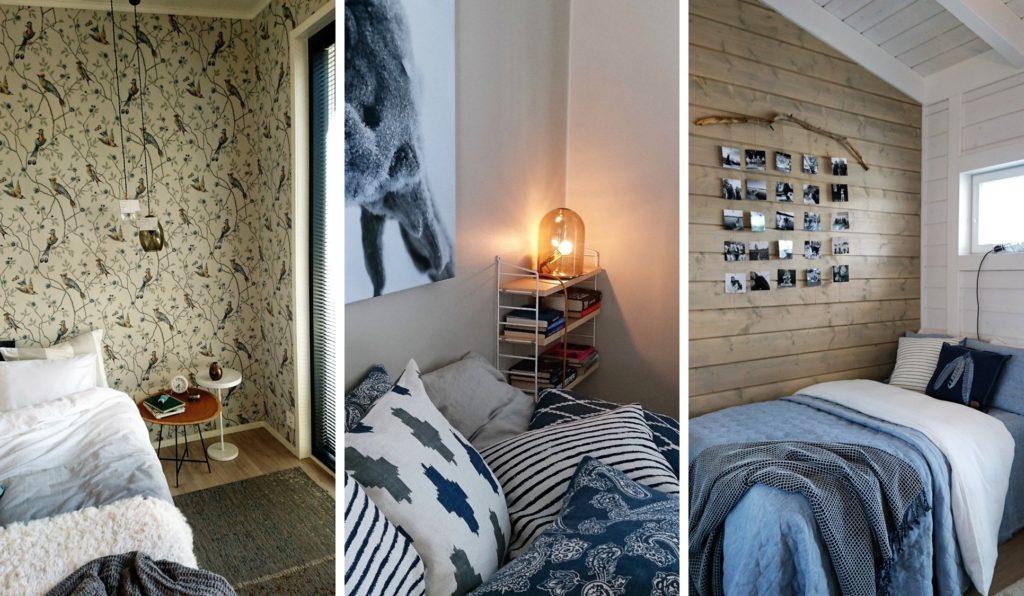 Sisustuinspiraatiota asuntomessuilta: Makuuhuoneet olivat tyyliltään runsaita, mutta värimaailmaltaan rauhallisia