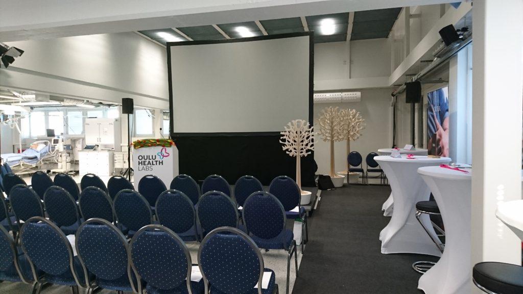 Kuninkaalliset Oulussa: OYS TestLab somistettutna Norjan kuningasparin vierailua varten