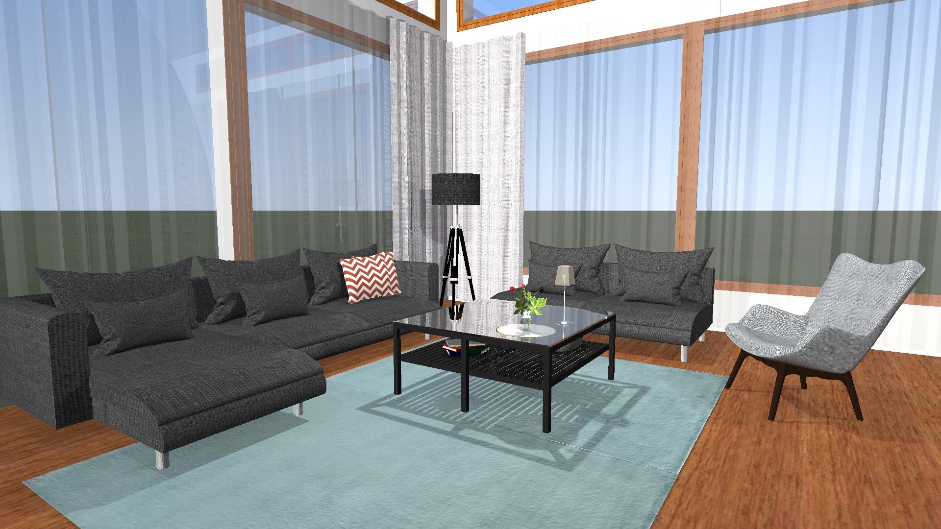 Haastavan mallisen olohuoneen muutos