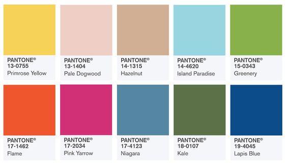 Pantonen vuoden 2017 värikartta on täynnä kauniita sävyjä.