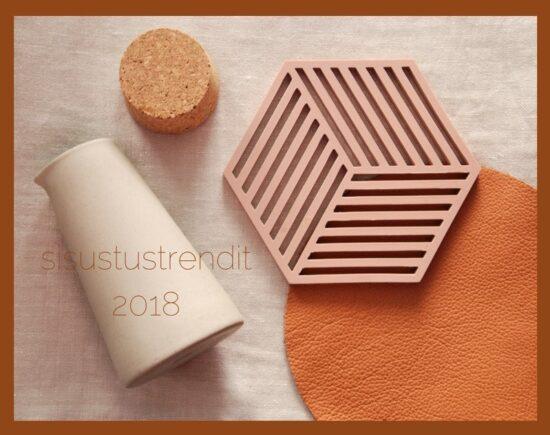 Trendit sisustamisessa vuonna 2018: värit ja materiaalit